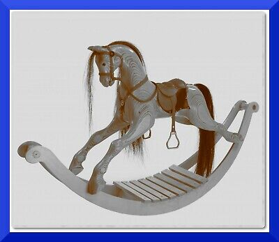 Mini Hand Carved Wooden Rocking Horse