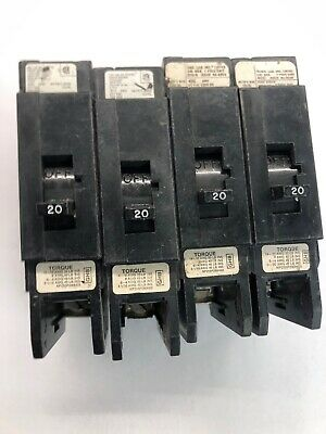 Lot Of 8 Westinghouse BAB1020 Circuit Breakers 1 Pole 20 Amp 120//240V 20A