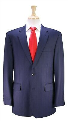 CHESTER EXCLUSIVE by Chester Barrie Dark Navy Blue 2-Btn Luxury Wool Suit 40R