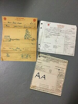 Original 1962 Rambler Window Sticker And Invoice Compact Car Excellence