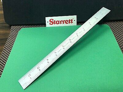 "STARRETT No.CB12-16R  12"" Satin Chrome Blade Only for Combination Squares. ""USA"""