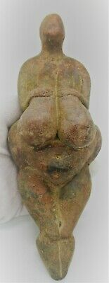Extremely Rare Ancient Near Eastern Terracotta Worshipper Statuette