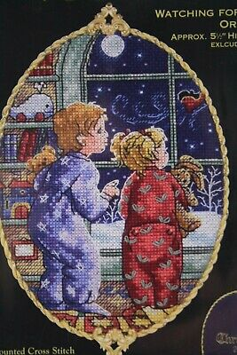 Dimensions Gold Collection Petites Watching For Santa 8699 Ornament Kit Craft