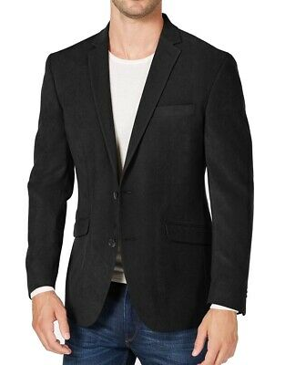 Kenneth Cole Mens Suit Separate Black Size 44 Two Button Slim Fit $295 323