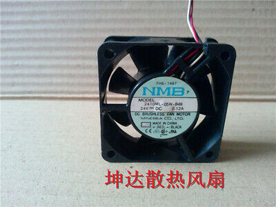 1pcs NMB 2410ML-05W-49 6025 24V 0.12A 6cm 2-wire dual ball inverter cooling fan