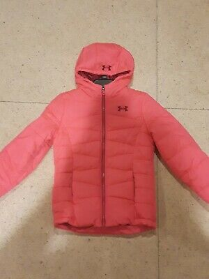 NWT UNDER ARMOUR STORM COLDGEAR Big GIRLS ZIP UP PUFFER JACKET PINK SOLID