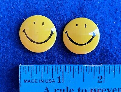 POSTAGE STAMP 1970/'s SMILEY FACE BUTTONS U.S MINT CONDITION