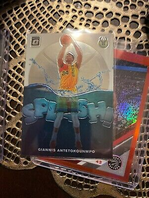 2019-20 Panini Optic Giannis Antetokounmpo Splash Silver Holo Prizm #3
