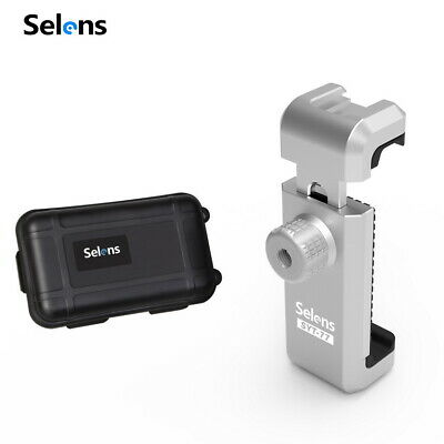 Selens 360° Rotation Metal Phone Clamp Clip Holder Mount for Tripod Monopod