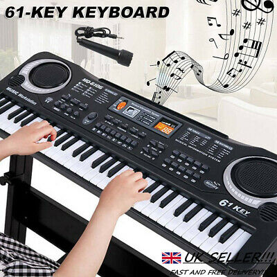 61 Keys Digital Music Electronic Keyboard Electric Piano Toy Gift w/ Microphone