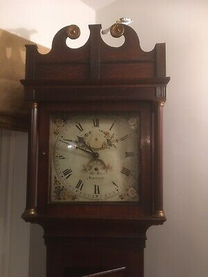 longcase grandfather clock Please Look At Pictures And Full Description