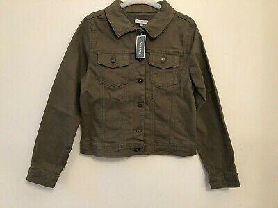 Boys Blue Zoo Khaki Denim Jacket Age 11 Bnwt Rrp £24.00