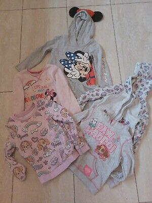 Girls bundle 4-6 H and M paw patrol, minnie mouse, dress and jumpers