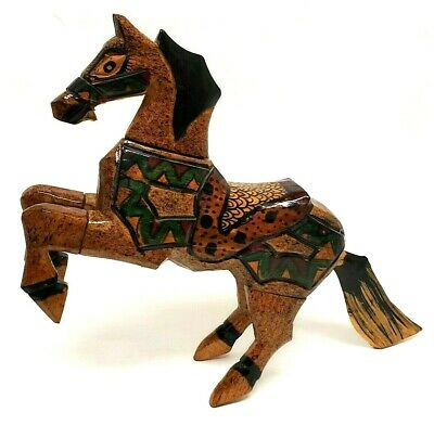 Beautiful Hand Carved & Painted Wood Horse Figure Very Unique! See Photos!