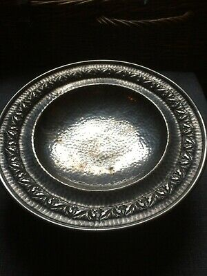 Best English Pewter Hand Beaten Footed  Bowl