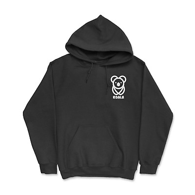 Slow Animal Casual Jumper Wellcoda Koala On A Tree Mens Contrast Hoodie