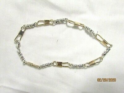 James Avery Retired 14K Gold & .925 Silver Fishers of Men's Bracelet 15.3 Grams
