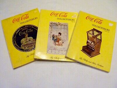 LOT 3 COCA-COLA Collectibles BOOKS Vol. I, II & IV by SHELLY & HELEN GOLDSTEIN