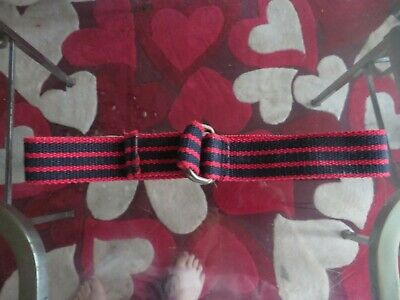 boys boy  belt age 10 years canvas navy and red