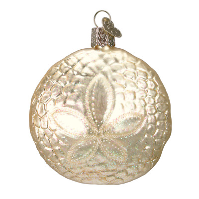 Old World Christmas SAND DOLLAR (12156)X Glass Ornament w/ OWC Box