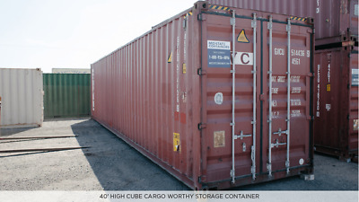 *READ DESCRIPTION BEFORE BUYING* - 40ft High Cube - CARGO WORTHY - Free Delivery