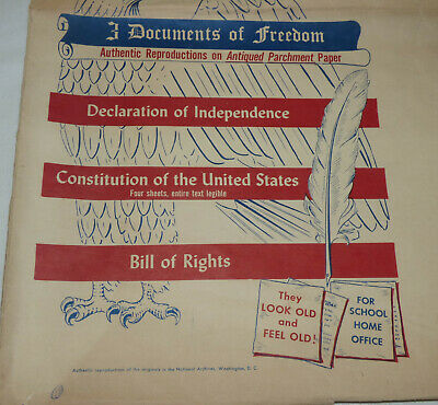 Documents of Freedom Parchment Constitution Bill Rights Declaration Independence