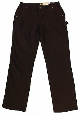 Carhartt Womens Pants Brown Size 10 Crawford Original Fit Stretch $50 287