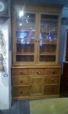 Huge Antique Victorian Pine Pantry Cupboard House Keepers Linen Cupboard