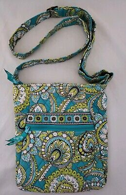 Vintage 2007 Vera Bradley Peacock Bag Purse Cross Body Teal Retired Excellent