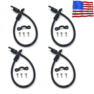 2 Pack Poly Rod Tamer Straps Holder Saver Deck Mount Connector Boat Fishing 12/""