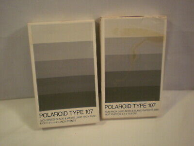 Polaroid 3000 Speed Land Picture Pack Type 107 Film Black & White, Exp 1988