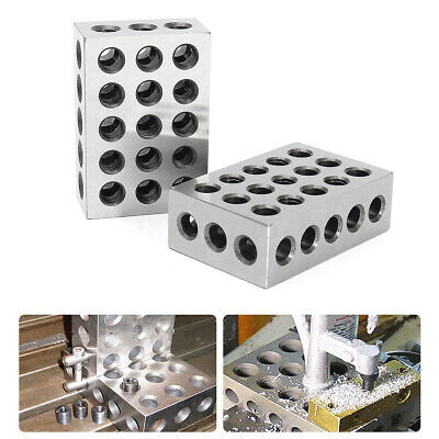 2 x Matched Pair Ultra Precision 1-2-3 Blocks 23 Holes .0001'' Machinist  !
