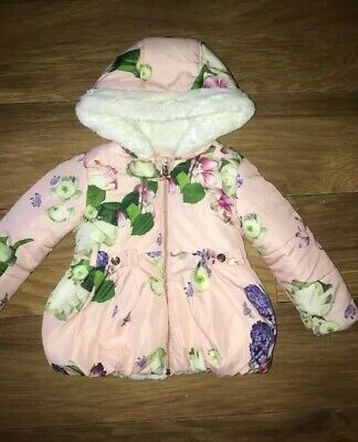 Girls Age 2-3 Ted Baker Floral Coat Quilted Jacket