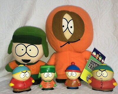 LOT OF 6 South Park Items Plushes Figures Toys Cartman Kenny Kyle Stan Namco