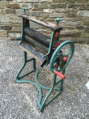 Vintage Cast Iron Mangle Painted