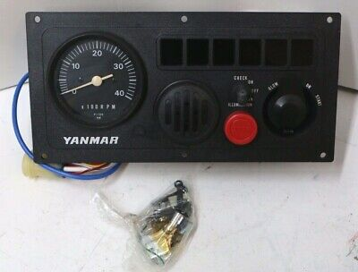 OEM Yanmar C Type Dash Instrument Panel Replacement Light Box Faceplate Bezel