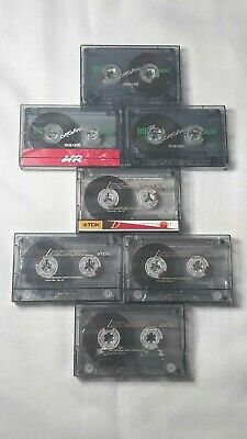 7 Used Blank Audio Cassette Tapes 3 Maxell UR 90 And 4 TDK D90 Wiped Clean