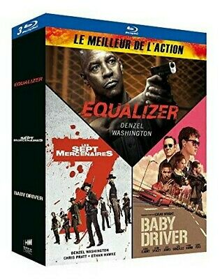 Equalizer + Les 7 Mercenaires + Baby Driver - Bluray X3 - Neuf Sous Blister