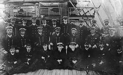 OLD PHOTO Officers Of Canadian Pacific Ocean Liner Rms Empress Of Ireland 1913