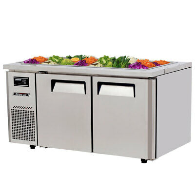 """Turbo Air JBT-60-N 60"""" Refrigerated Buffet Display Table Stainless w/ Casters"""