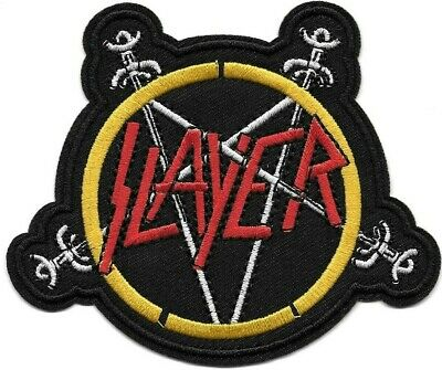 Slayer (band) Embroidered Patch Iron-On Sew-On fast US shipping