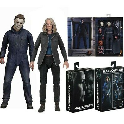 "2018 Movie Ultimate Laurie Strode 7/"" Scale Action Figure Box b NECA Halloween"