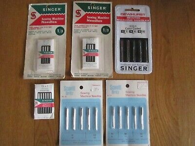 vintage singer sewing machine needles unopened dritz dewhurst s 574-5 size 14