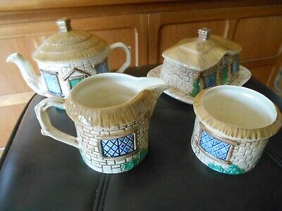 Vintage ceramic pottery tea set Sylvac Cottage theme