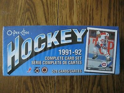 1991-92 O-Pee-Chee Hockey Complete Factory SEALED Set 528 cards FREE SHIPING!