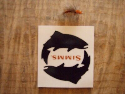 SIMMS Fishing Products Authentic not a fake reprint White Trout sticker