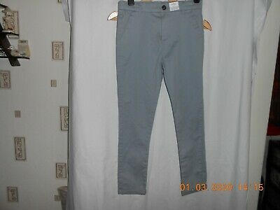 M&S KIDS  Boys Skinny Leg Grey Chino Adjustable waist Age 10-11 Yrs BNWT