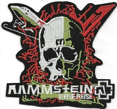 Rammstein (band) shaped Embroidered Patch Iron-On Sew-On fast US shipping