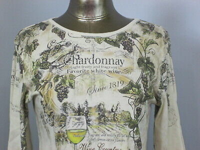 Christopher & Banks Womens Size L (36) Brown 3/4 Sleeve Chardonnay Top 324-18410