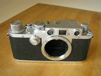 Leica IIIf Rangefinder Camera EXC  Working But Needs CLA